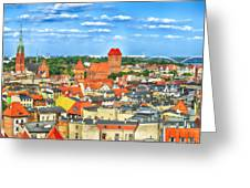 Poland, Torun, Urban Landscape. Greeting Card