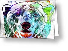 Polar Bear Colored Grunge Greeting Card