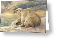Polar Bear Rests On The Ice - Arctic Alaska Greeting Card