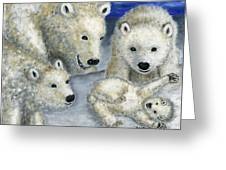 Polar Bears At Play In The Arctic Greeting Card