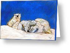 Polar Bears With Love Greeting Card