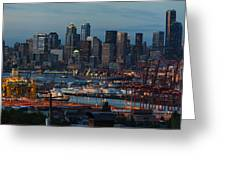 Polar Pioneer Docked In Seattle Greeting Card