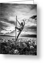 Pole Dance Reach Hdr Greeting Card