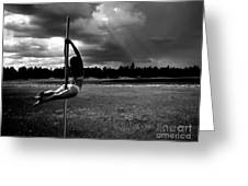 Pole Dance Storm 1 Greeting Card