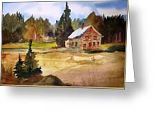 Polebridge Mt Cabin Greeting Card