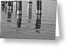 Poles In The Water Greeting Card