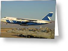 Polet Antonov An-124 Ra-82080 Taking Off Phoenix-mesa Gateway Airport January 15 2011 Greeting Card