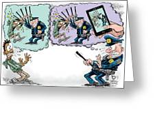 Police Beatings And Phone Videos Greeting Card