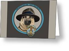 Police Dog Greeting Card