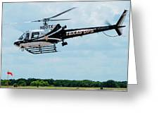 Police Helicopter Taking Off Greeting Card