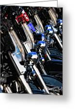 Police Motorcycles Greeting Card