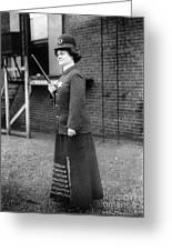 Policewoman, 1909 Greeting Card