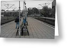 Polish Train Station Greeting Card