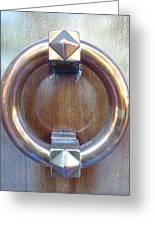Polished Door Knocker Greeting Card