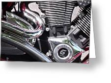 Polished Motorcycle Chrome Greeting Card
