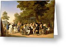 Politicians In The Tuileries Gardens Greeting Card by Louis Leopold Boilly