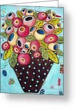 Polka Dot Pot Greeting Card by Karla Gerard