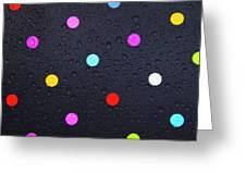 Polka Dot Umbrella Greeting Card