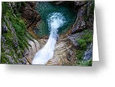 Pollat River Waterfall - Neuschwanstein Castle - Germany Greeting Card