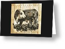 Polled Hereford Bull 11 Greeting Card