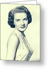 Polly Bergen, Vintage Actress Greeting Card
