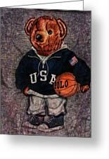 Polo Bear Sport Greeting Card
