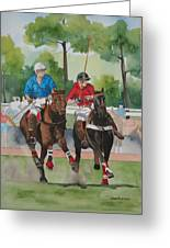 Polo In The Afternoon 2 Greeting Card