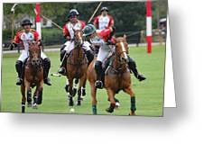 Polo Match 7 Greeting Card