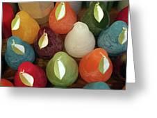 Polychromatic Pears Greeting Card by Rick Locke