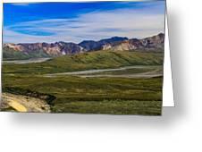 Polychrome Pass Area Denali National Park Four Greeting Card