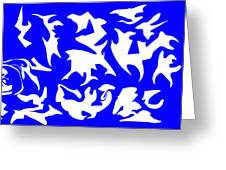 Polygon Sky Greeting Card