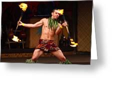Polynesian Fire Dancing Greeting Card