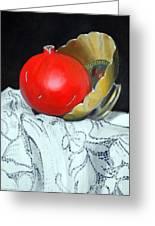 Pomegranate And Pot Greeting Card by Kostas Koutsoukanidis