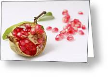 Pomegranate And Seeds  Greeting Card