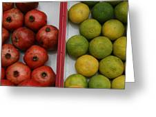 Pomegranate And Sweet Lime Greeting Card