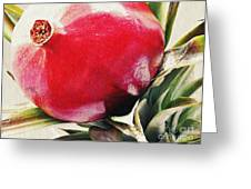 Pomegranate On A Pineapple Stalk Greeting Card