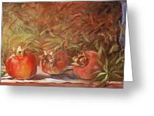 Pomegranates Greeting Card
