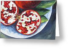Pomegranates On A Plate  Greeting Card