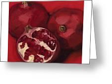 Pomegranite Trio Greeting Card