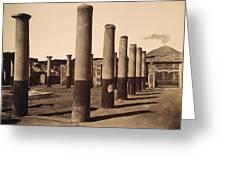 Pompeii, Excavation Greeting Card