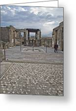 Pompeii View With Mosaic Greeting Card