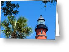 Ponce Del Leon Inlet Florida Greeting Card