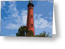 Ponce Inlet Light Greeting Card