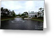 Pond At Alys Beach Greeting Card by Megan Cohen