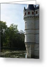 Pond At Azay Le Rideau Greeting Card