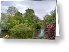 Pond At Buckingham Palace London Greeting Card