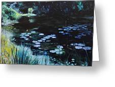 Pond At Port Meirion Greeting Card