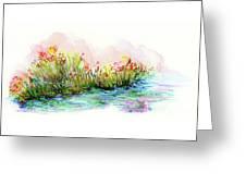 Sunrise Pond Greeting Card by Lauren Heller