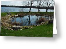 Pond By The Lake Greeting Card