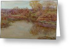 Pond In Early Autumn Greeting Card